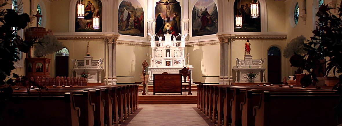 nave, sanctuary, and altar