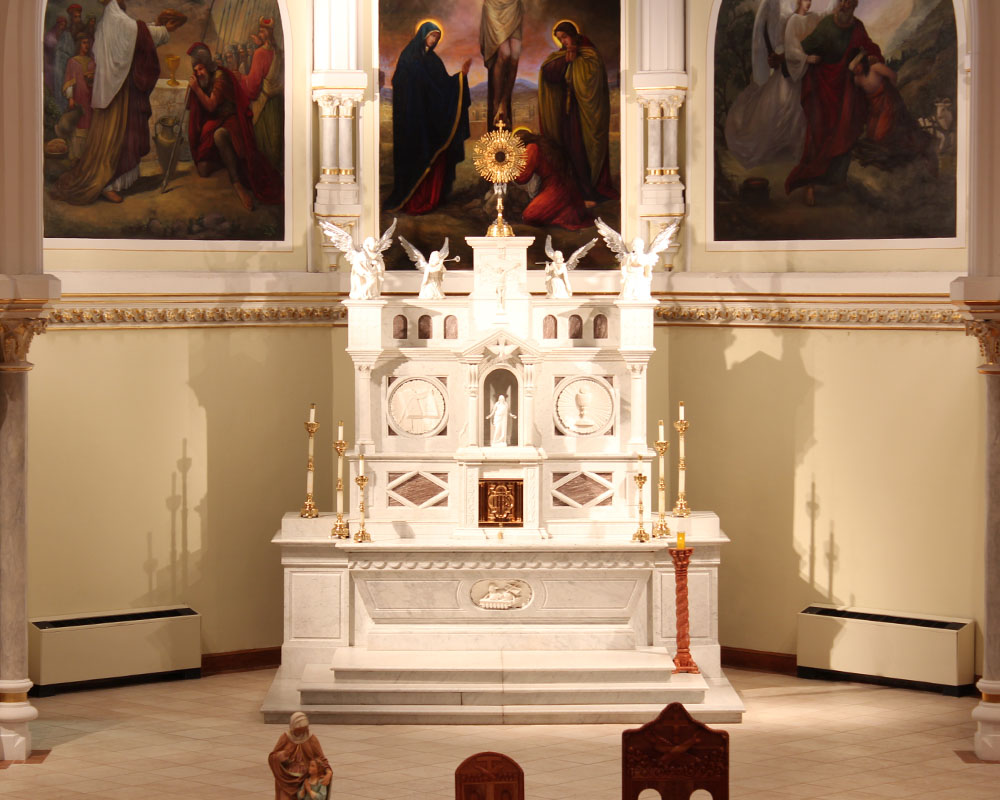 detail photo of the altar