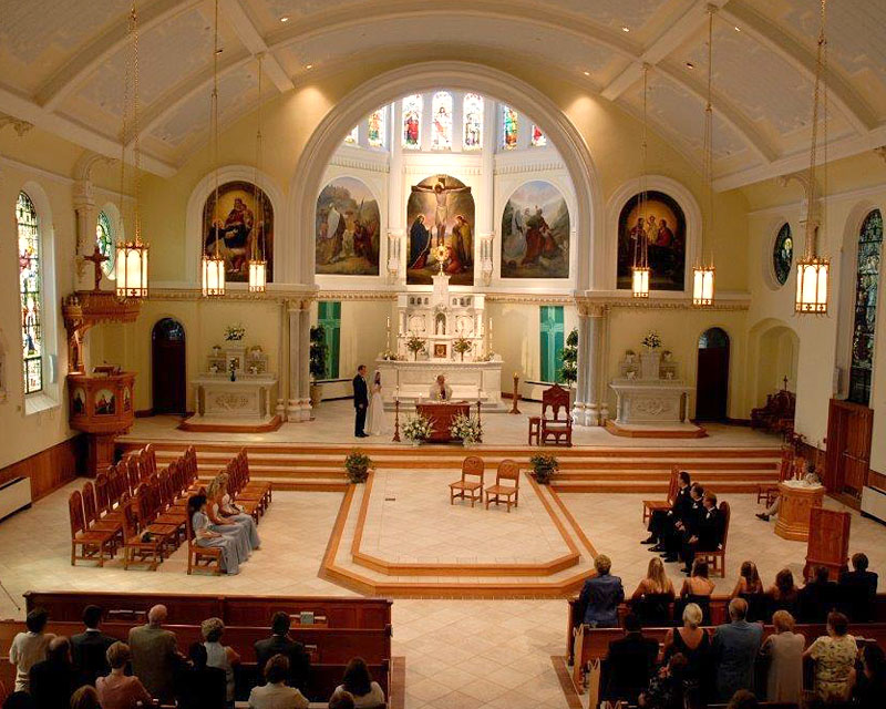 wedding ceremony at Sacred Heart Oratory